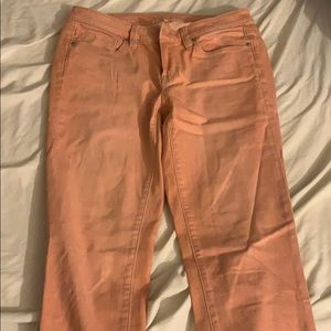 Salmon pink LOFT jeans